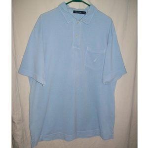 Nautica Sky Blue Short Sleeve Polo Shirt